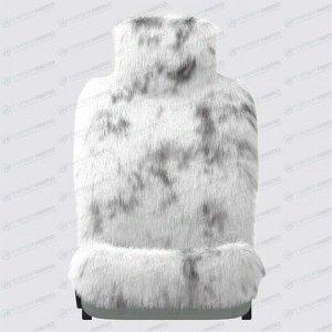 Чехол-накидка CARFORT FUR для передних и задних сидений, овчина, черный/белый цвет, 1шт
