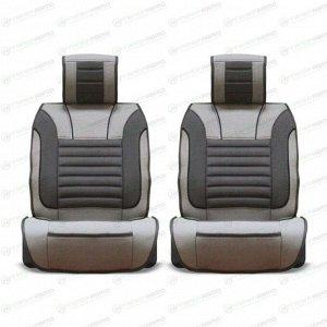 Чехлы-накидки CARFORT PREMIER для передних сидений, ткань, серый цвет, комплект 2шт