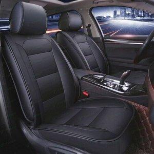 Чехлы-накидки CARFORT Elegance для передних и задних сидений, экокожа, черный цвет, комплект