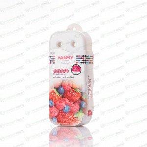 Ароматизатор под сиденье Yammy Fresh Berries (Свежие ягоды), гелевый, плоский футляр, арт. P014
