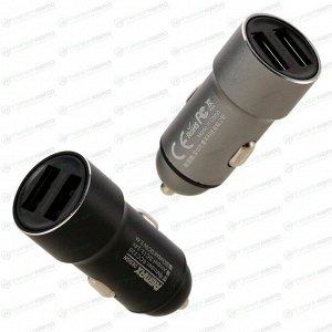 Зарядное устройство в прикуриватель Remax Rechan 12/24В, 2xUSB (5В, 2.4А макс.), черное, арт. RCC-220