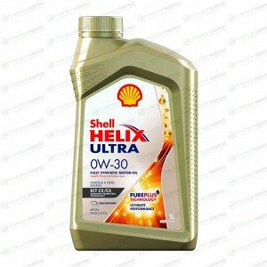 Масло моторное Shell Helix Ultra ECT 0w30 синтетическое, SN, ACEA C2/C3, универсальное, 1л