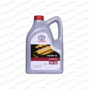 Масло моторное Toyota 0w30 синтетическое, SL, ACEA A5/B5, универсальное, 5л, арт. 08880-80365