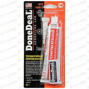 Герметик-прокладка DoneDeal DD6726 силиконовый, термостойкий, красный, туба 85г