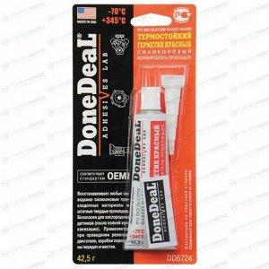 Герметик-прокладка DoneDeal DD6724 силиконовый, термостойкий, красный, туба 40г