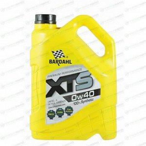 Масло моторное Bardahl XTS 0w40 синтетическое, SL/CF, ACEA A3/B4, универсальное, 5л, арт. 36143