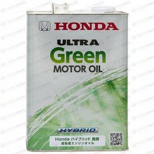Масло моторное Honda Ultra Green Hybrid 0w10 синтетическое, SN, для бензинового двигателя, 4л