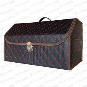 Органайзер CARFORT CUBE 100 в багажник, с прострочкой, черный цвет, размер 510 x 280 x 300мм