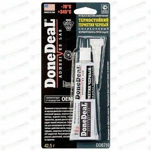 Герметик-прокладка DoneDeal DD6710 силиконовый, термостойкий, черный, туба 42,5г