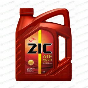 Масло трансмиссионное ZIC ATF Multi LF синтетическое, универсальное, 4л, арт. 162665