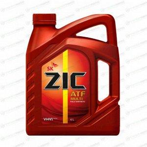Масло трансмиссионное ZIC ATF Multi синтетическое, универсальное, 4л, арт. 162628