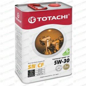 Масло моторное Totachi Niro LV 5w30 полусинтетическое, SN/CF, ACEA A5/B5, универсальное, 4л, арт. 4589904922015