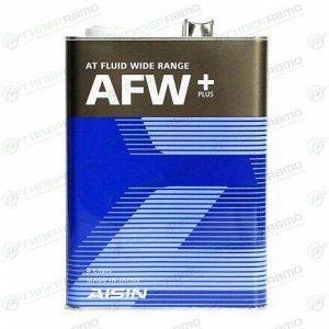 Масло трансмиссионное Aisin AT Fluid Wide Range AFW+ синтетическое, универсальное, 4л, арт. ATF6004