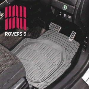 Коврики универсальные CARFORT ROVERS 6 для переднего и заднего ряда, серый цвет, ванночка, 4шт