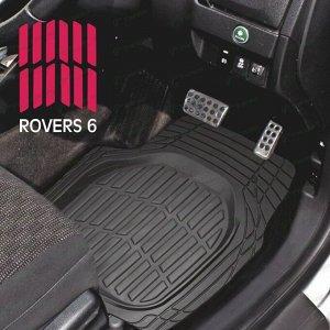 Коврики универсальные CARFORT ROVERS 6 для переднего и заднего ряда, черный цвет, ванночка, 4шт