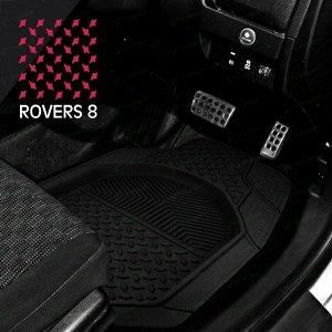 Коврики универсальные CARFORT ROVERS 8 для переднего и заднего ряда, черный цвет, ванночка, 4шт