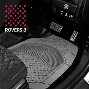 Коврики универсальные CARFORT ROVERS 8 для переднего и заднего ряда, серый цвет, ванночка, 4шт