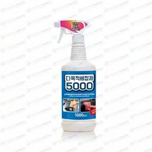 Очиститель кузова и салона Kolibriya 5000, для лакокрасочных покрытий, пластика, от следов наклеек, маркеров и насекомых, бутылка с триггером 1л, арт. 3097