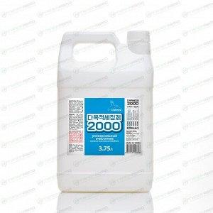 Очиститель кузова и салона Kolibriya 2000, для лакокрасочных покрытий, пластика, от следов наклеек, маркеров и насекомых, канистра 3.75л, арт. 3042