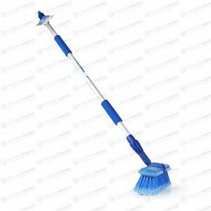 Щётка для мытья Carfort Cristal-18, с насадкой для шланга, с вентилем, с телескопической ручкой 92-161см, арт. CRL2118