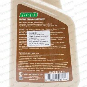 Полироль-кондиционер салона ABRO Leather & Vinyl Cream Conditioner, для кожи и винила, с защитой от от УФ-лучей, бутылка с триггером 472мл, арт. LC-536
