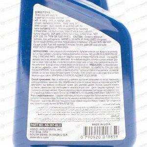Полироль кузова ABRO Color Car Polish, для восстановления яркости лакокрасочного покрытия синих автомобилей, бутылка 473мл, арт. AB-301-BLU
