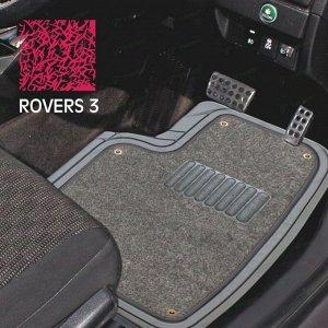 Коврики универсальные CARFORT ROVERS 3 для переднего и заднего ряда, серый цвет, с съемным ковролином, 4шт