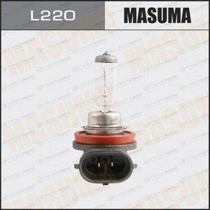 Лампа галогенная Masuma Clearglow H11 (PGJ19-2, T11), 12В, 55Вт, 3000К, 1 шт