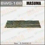Шнурки Masuma, длина 200мм, черные, пластина 5 шнурков