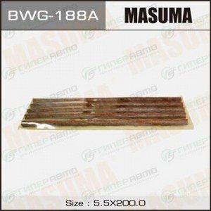 Шнурки Masuma, длина 200мм, красные, пластина 5 шнурков