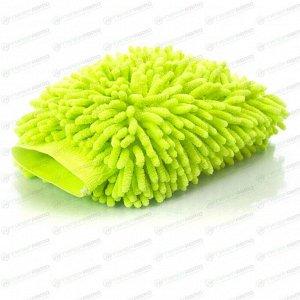 Рукавица Kolibriya Splend-6, для удаления пыли и полировки, из микрофибры, салатовая, арт. Nim-013. grn