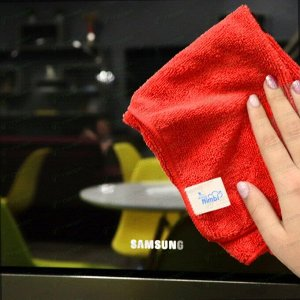 Салфетка Kolibriya Nimbi-40, для кухни и сантехники, из микрофибры, 250x250мм, красная, арт. Nim-0547.red