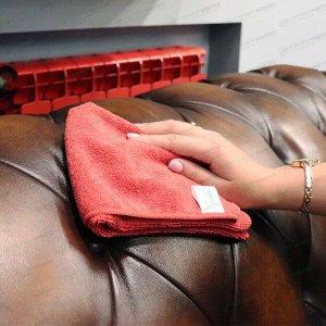 Салфетка Kolibriya Nimbi-46, для сухой и влажной уборки, для офиса, из микрофибры, 400x400мм, красная, арт. Nim-0551.red