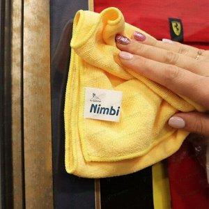 Салфетка Kolibriya Nimbi-44, для сухой и влажной уборки, для дома, из микрофибры, 300x600мм, желтая, арт. Nim-0549.ylw