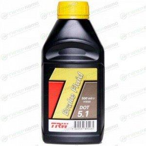 Жидкость тормозная TRW Brake Fluid, DOT-5.1, ABS, 500мл, арт. PFB550