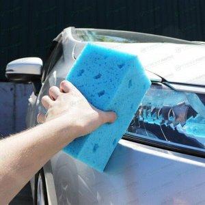 Губка Kolibriya Alba-3, для мытья автомобиля, поролон, 185х108х85мм, синяя, арт. AL-0009