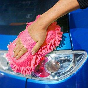 Губка Kolibriya Splend-3, для удаления пыли и полировки, поролон и микрофибра, розовая, арт. SD-0214. red