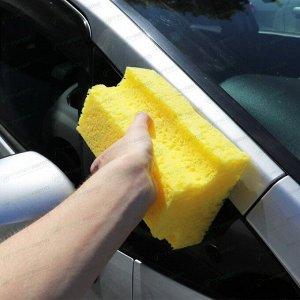 Губка Kolibriya Alba-12, для мытья автомобиля, поролон, Т-профиль, 190х130х85мм, жёлтая, арт. AL-0007