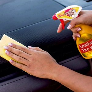 Губка Kolibriya Alba-6, для мытья автомобиля и чистки салона, поролон, 240х95х63мм, жёлтая, арт. AL-0006