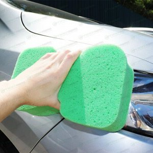 Губка Kolibriya Alba-9, для мытья автомобиля, поролон, Z-образная, 235х140х63мм, зелёная, арт. AL-0011