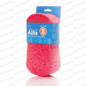 Губка Kolibriya Alba-8, для мытья автомобиля, поролон, 8-образная, 215х115х60мм, розовая, арт. AL-0015
