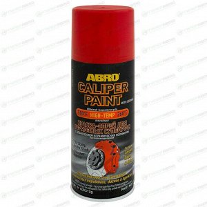 Краска аэрозольная ABRO Caliper Paint, для тормозных суппортов, термостойкая, красная, 312г, арт. CP-555-RED