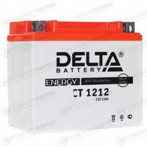 Аккумулятор для мото Delta CT 1212 AGM, 12Ач, CCA 180A, необслуживаемый