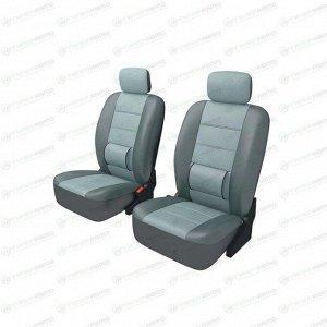 Чехлы CARFORT ARMOR для передних сидений, кожа, серый цвет, 6 предметов