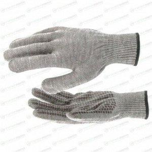 Перчатки СИБРТЕХ трикотажные с гелевым ПВХ покрытием, 1 пара