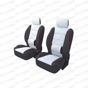 Чехлы CARFORT CARBONE для передних сидений, ткань, серый цвет, 6 предметов