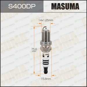 Свеча зажигания Masuma Double Platinum PFR7S8EG с платиновым электродом, арт. S400DP