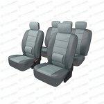 Чехлы CARFORT ARMOR для передних и задних сидений, кожа, черный цвет, 13 предметов