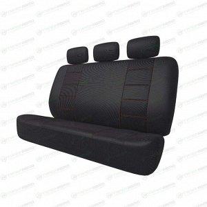 Чехлы CARFORT NEOCLASSIC для задних сидений, ткань, черный цвет, 5 предметов