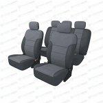 Чехлы CARFORT SHIELD для передних и задних сидений, ткань, черный/серый цвет, 9 предметов